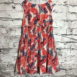 Jessica Simpson Flare Floral Sleeveless Dress.